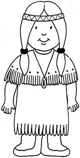 Coloring Page Of Native American Girl Printable Coloring Pages For