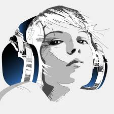 Image result for girl with headphones