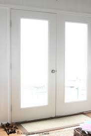 how to make patio doors look more expensive by the wood grain cottage