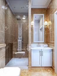 Design Der Modernen Badezimmer Die Kombination Aus Natürlichen