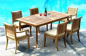 garden furniture table and chairs teak outdoor dining furniture 7 piece teak dining set chairs teak