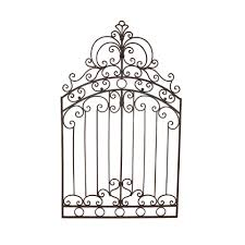 Metal Wall Decor For Kitchen Metal Gate Wall Art Details About Tuscan Wrought Iron 50 Garden