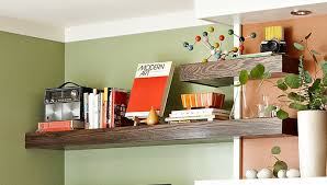 Floating Wrap-Around Wall Shelves