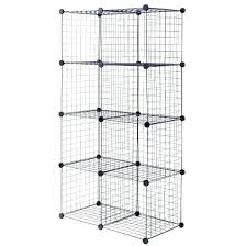 grid wire modular shelving and storage cubes canada 8 cube shelves target