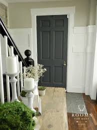 inside front door colors. Painted Front Door Color - Graphite By: Annie Sloan, Wall Hazy Skies Sherwin Williams Inside Colors W