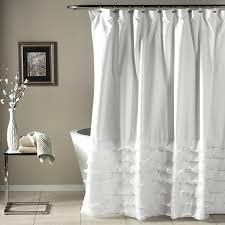 ... Terrific White Shower Curtains White Fabric Shower Curtain Wall Floor  White Curtain: white ...