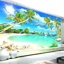 beach scene wall murals custom 3 d photo wallpaper mural sce