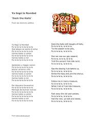 While jingle bells in english doesn't actually mention christmas, the spanish version navidad, navidad is all about about it. Christmas Song In Spanish Deck The Halls Teaching Resources