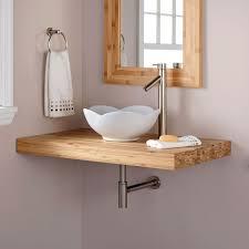 bathroom vessel sink vanity. Vanity Ideas, Bathroom Sinks Grey Unit Vessel Sink Bamboo Bathroom: Astonishing