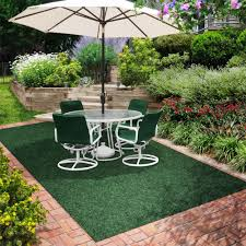 contemporary outdoor decor with amazon green outdoor carpet and