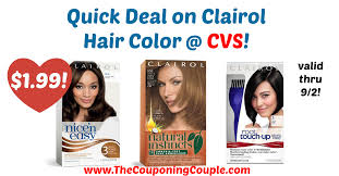 $1.69 each when you buy two. Quick Deal On Clairol Hair Color Cvs Clairol Hair Color Clairol Hair Color