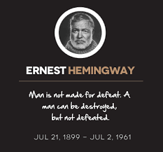 Hemingway Quotes Cool Ernesthemingwayquotes Next Luxury