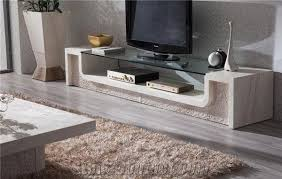 beige travertine tv stand table