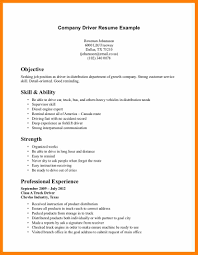 8 Resume Sample For Driver Post Quotation Samples