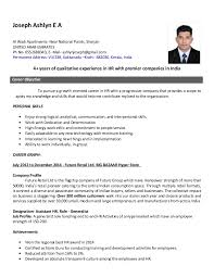 Resume Hr Generalist Project Awesome Hr Profile Resume Importance