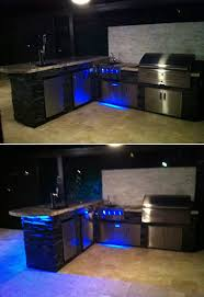 custom kitchen lighting. Magnificent Outdoor Island Lighting Custom Kitchen Led Changes Color With Dramatic T