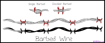 barbed wire fence drawing. How To Draw Barbed Wire Fence Drawing A