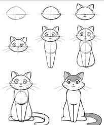 cat drawing step by step. Beautiful Cat 17 Ps Simple Quest For Everyone Why Did Bill Die In Cat Drawing Step By O