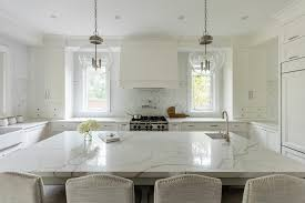 Small Picture Quartz Countertop Looks Like Marble Transitional Kitchen