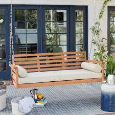 Frantic Bolster Pillows Deep Seat Wood Porch Swing Outdoor Bed Then Deep  Seat Wood Porch Swing
