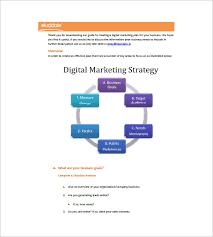 15 Digital Marketing Plan Template Free Sample Example