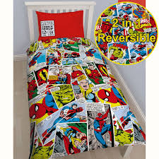 Marvel Bedroom Furniture Marvel Duvet Cover Sets Single Double King Comics Avengers