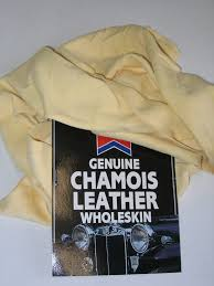 untrimmed chamois leather wipe car shammy cloth zoom