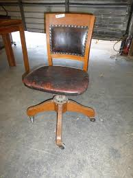 leather antique wood office chair leather antique. Lot #33 - Antique, Leather \u0026 Wood Swivel Office Chair Antique