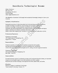 Supply Technician Resume Example Gallery Of Example Nurse Anesthetist Resume Free Sample Anesthesia 27