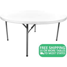white plastic table. Delighful Table Round White Plastic Folding Table ADV60RWHITE Intended U
