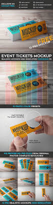17 best ideas about ticket template event 12 event tickets psd mockups psd templates photoshop