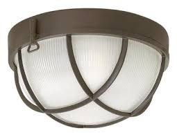 two light flush mount bronze