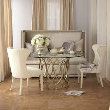 furniture cream upholstered bench with tufted back using dining room sets with bench and chairs