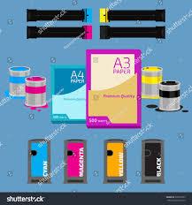 Color Paint Offset Press Cyan Magenta Stock Vector 300719822