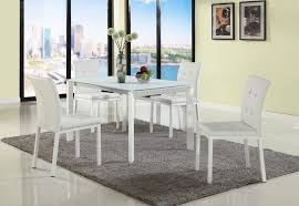 extendable white starphire glass dining set with matching chairs