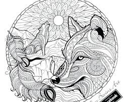 Impressive Inspiration Adult Wolf Coloring Pages Page Mandala To