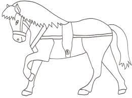 Disegno Di Cavallo Da Traino Da Stampare Gratis E Da Colorare Per