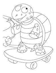 skateboard coloring pages tortoise coloring page balanced tortoise on skateboard coloring pages leopard tortoise coloring page