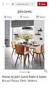 john lewis radar dining table and 5 john lewis maja dining chairs in sunny yellow