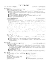 Resume Mechanical Engineer Sample Resume For Maintenance Engineer