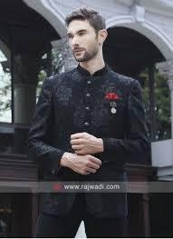 Imported Black jodhpuri Set | Black, Party fashion, Bollywood wedding