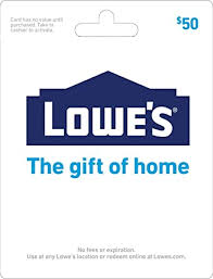 Lowe's $50 Gift Card: Gift Cards - Amazon.com