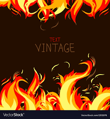 frame made from fire royalty free