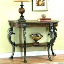 round hallway table foyer hallway console table with mirror round hallway table