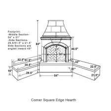 0corner square edge hearth