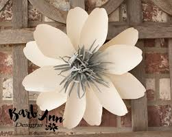White Paper Flower Wall Eucalyptus Gold Cream Large Paper Flower Wall Backdrop Barb