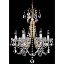 schonbek lucia french gold six light clear heritage handcut crystal chandelier 17 5w x 22 5h x 17 5d