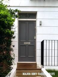 black door paint front painting ideas replace classic color with gray looking for about ronseal doorstep black door paint