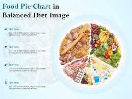 Balanced Diet Chart Ppt Food Pie Chart In Balanced Diet Image Powerpoint Slide