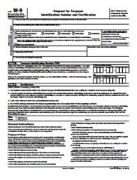 IRS W-9 Form - Free Download, Create, Edit, Fill and Print